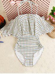 Ruffle Plaid One Piece Swimwear