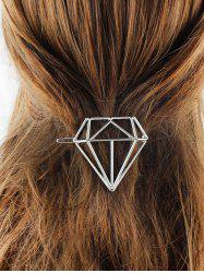 Diamond Shape Hollow Out Hairpin - SILVER