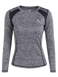 Respirant Heather Pullover T-Shirt - Gris