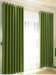 Shading Accueil Chambre Perforated Window Curtain - Vert