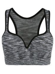 Low Impact Heathered Sports Bra - GRAY