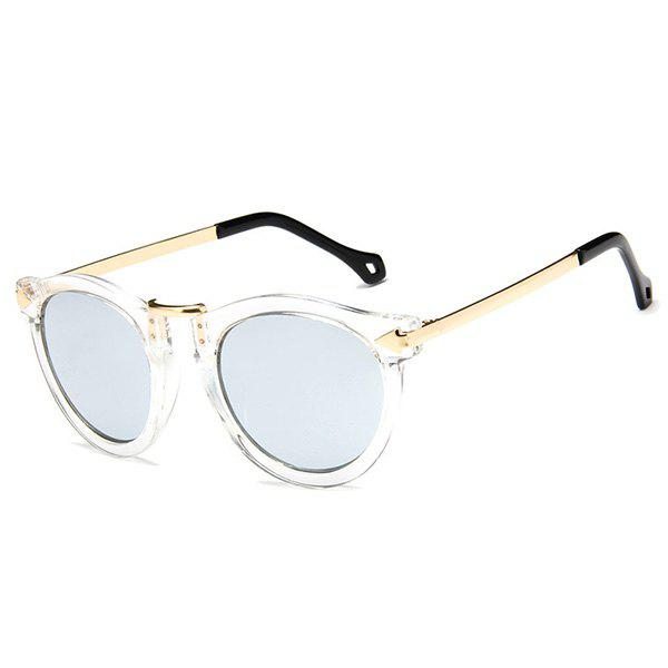 Outfits Transparent Rims Arrow Leg Design Mirror Sunglasses