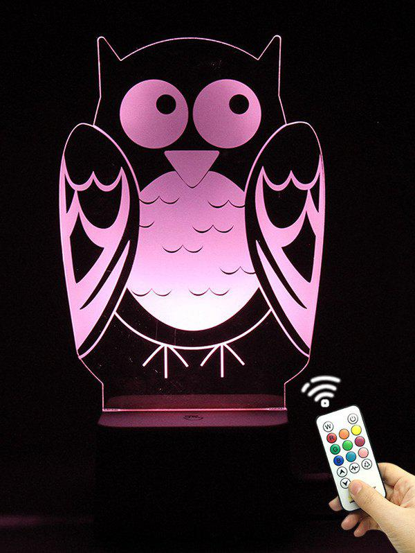 Fancy 3D Visual LED Touch Remote Control Colorful Owl Night Light
