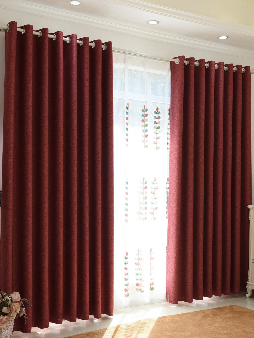 Shading Accueil Chambre Perforated Window Curtain