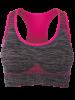 Racerback Padded Gym Sports Bra - ROSE MADDER M