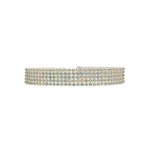 Rhinestoned Choker Necklace - GOLDEN
