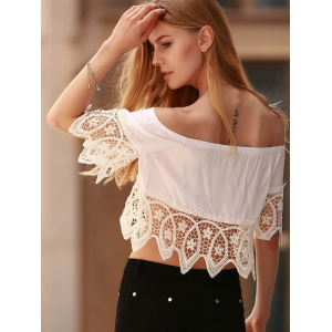 Off The Shoulder Cut Out Women's Crop Top -