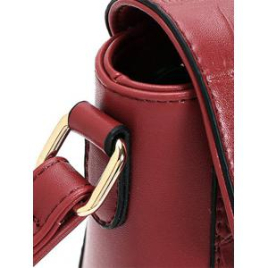 Trendy Crocodile Pattern and PU Leather Design Crossbody Bag For Women -