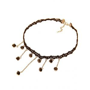 Lace Chain Fringed Chokers Necklace -