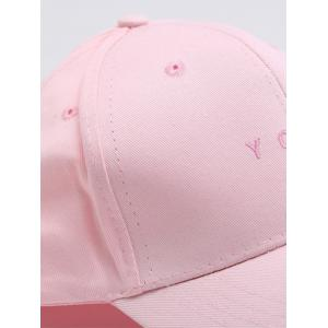 Chic Letter Baseball Cap For Women - PINK