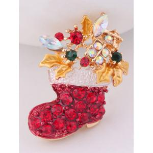 Christmas Boots Brooch -