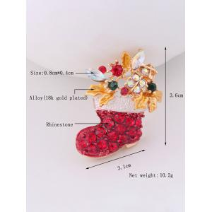 Christmas Boots Brooch - RED