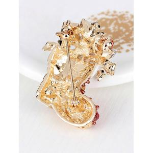 Christmas Shoe Brooch - RED