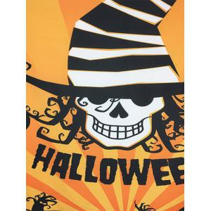 Halloween Carnival Skull Bat Pattern Big Square Scarf - ORANGE