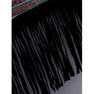 Casual Open Front Embroidered Fringed Women's Cover-Up -