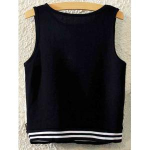 Maple Leaf Print Cropped Tank Top - BLACK ONE SIZE(FIT SIZE XS TO M)