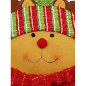 Christmas Party Decoration Reindeer Star Pillow - YELLOW
