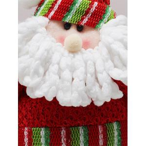 Festival Party Decor Stretched Santa Christmas Puppet Toy - RED/GREEN