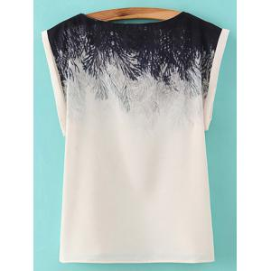 Trendy Slash Neck Printed T-Shirt For Women -