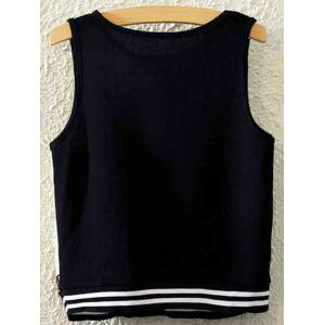 Stylish Round Neck Coconut Grove Print Women's Tank Top - BLACK ONE SIZE(FIT SIZE XS TO M)