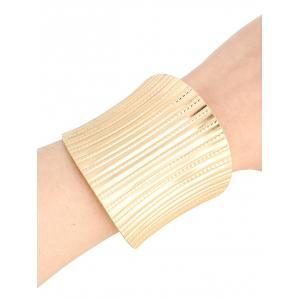 Chic Stripy Cuff Bracelets For Women - Golden - One-size