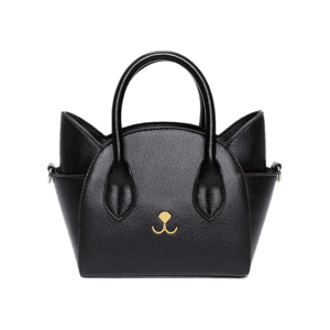Charming Cat Shape and Solid Color Design Tote Bag For Women - Black - 37