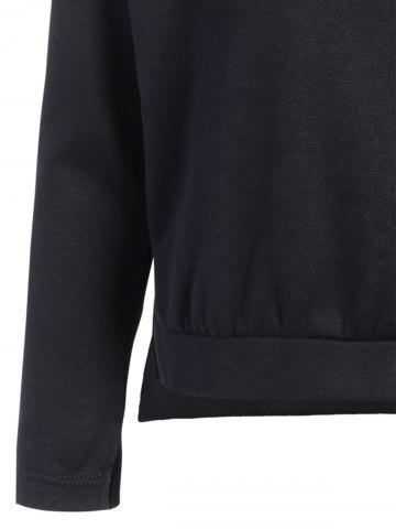 Outfits Zipped Pullover Hoodie - 2XL BLACK Mobile