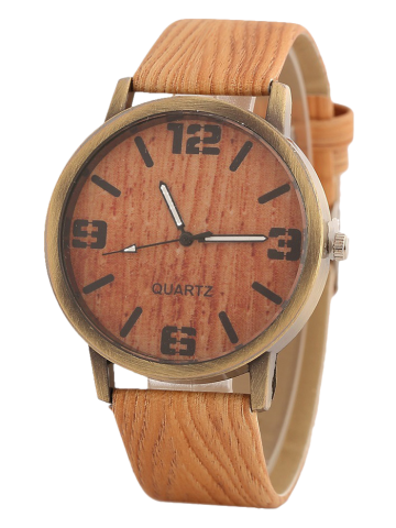 Fashion Vintage Wooden Pattern Watch