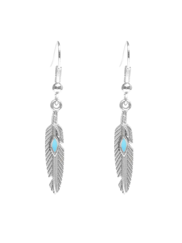 Hot Beaded Resin Feather Drop Earrings