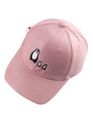 Fashion Casual Sunscreen Penguin Embroidery Baseball Hat
