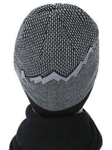 Hot Flocking Letter Patch Acrylic Hat - BLACK  Mobile
