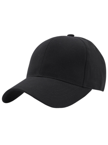 Outfit Hot Sale Outdoor Adjustable Pure Color Baseball Cap BLACK
