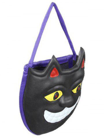 unique mask pattern color block halloween bag black mobile - Halloween Handbag