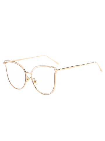 Hot Travel Hollow Out Double Frames Butterfly Shaped Sunglasses