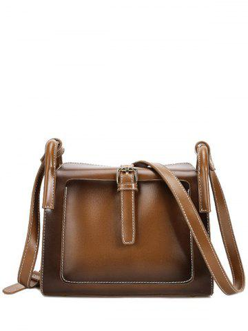 Chic Vintage Stitching and Buckle Design Crossbody Bag For Women
