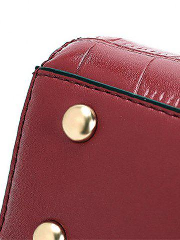 Best Trendy Crocodile Pattern and PU Leather Design Crossbody Bag For Women - RED  Mobile