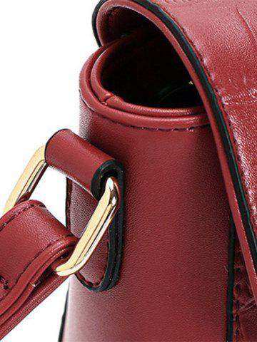 Trendy Trendy Crocodile Pattern and PU Leather Design Crossbody Bag For Women - RED  Mobile
