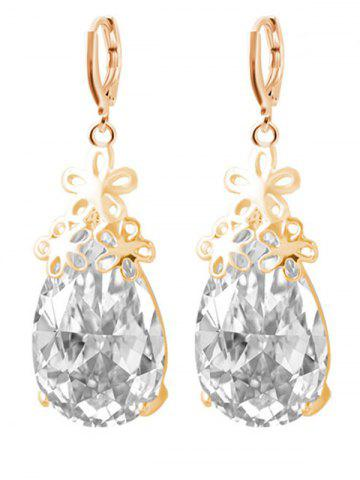 Shops Floral Water Drop Wedding Jewelry Set - GOLDEN  Mobile