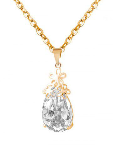 Outfit Floral Water Drop Wedding Jewelry Set - GOLDEN  Mobile