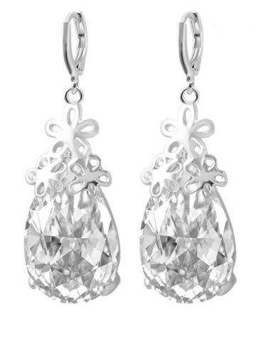 Shops Floral Water Drop Wedding Jewelry Set - SILVER  Mobile