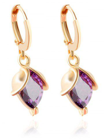 Affordable Faux Amethyst Crystal Wedding Jewelry Set - PURPLE  Mobile