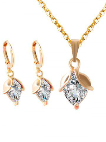 Online Faux Crystal Wedding Jewelry Set - WHITE  Mobile