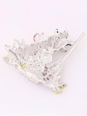 Discount Christmas Snowman Brooch - WHITE  Mobile