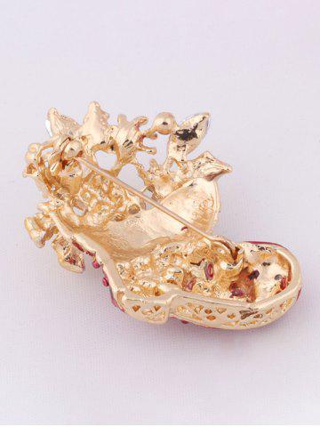 Affordable Christmas Boots Brooch - RED  Mobile