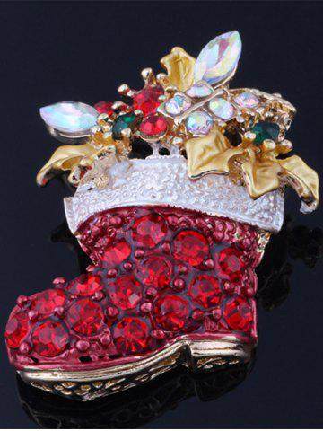 Buy Christmas Boots Brooch - RED  Mobile