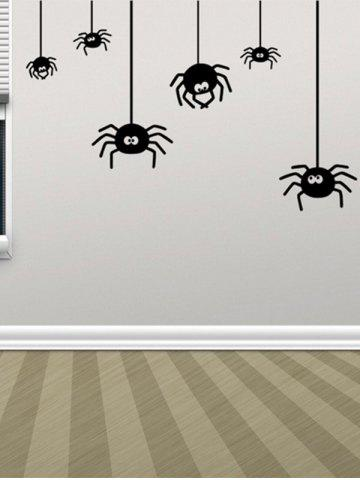 Buy Irregular Spider Design Halloween Vinyl Wall Stickers Custom BLACK