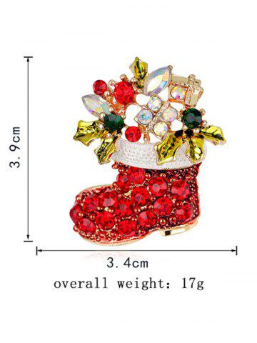 Outfit Christmas Shoe Brooch - RED  Mobile