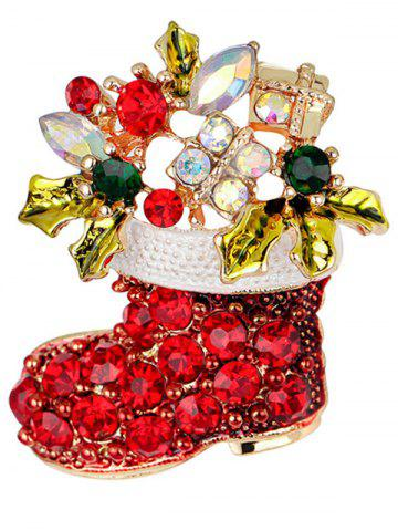 Affordable Christmas Shoe Brooch - RED  Mobile