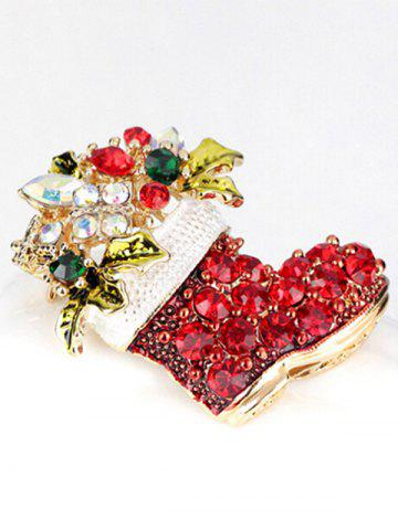 Trendy Christmas Shoe Brooch - RED  Mobile