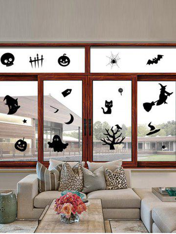 Unique Halloween Series Removable Waterproof Room Vinyl Wall Sticker BLACK